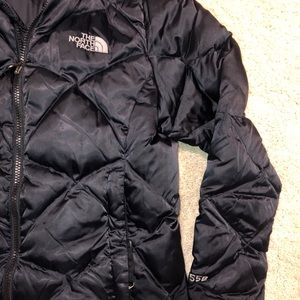 The North face black down puffer coat jacket